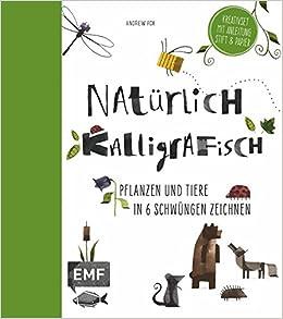 Natürlich Kalligrafisch Pflanzen Und Tiere In 6 Schwüngen Zeichnen