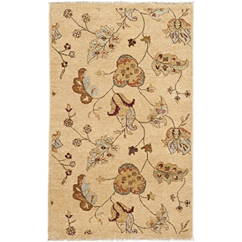 Safavieh Agra Collection AGR370A Hand-Knotted Beige Premium Wool Area Rug (4' x 6' ) (Agra Collection)