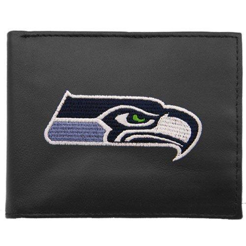 Rico Seattle Seahawks Embroidered Black Leather Bi-fold ()
