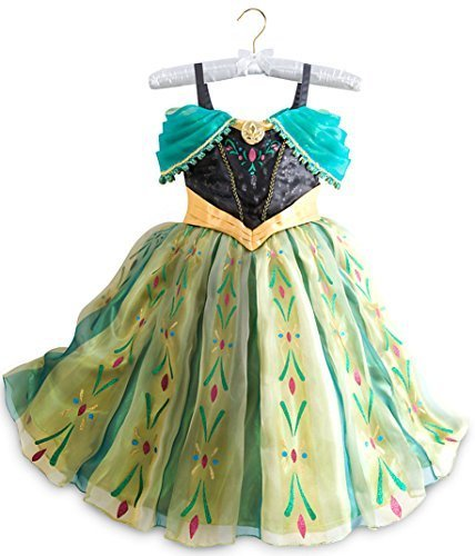Disney Store Frozen Princess Anna Deluxe Coronation Costume: Size 7/8 -
