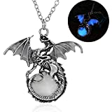 by lucky Women/Men Punk Glow In The Dark Dragon Pendant Necklace Charm Jewelry Best Gifts