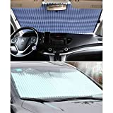 Universal Fit Car retractable windshield sun shade for most car Trucks SUV UV Protection Front Windows SunShade Roller,Easy to install (63'X27.6')