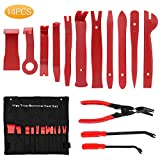 Helen Butler Auto Trim Removal Tool Kit - 14 Pcs Car Audio Tools for Car Panel Dash Audio Radio Removal, Panel Clip Pliers, Strong Nylon Pry Tools (14PCS - RED)