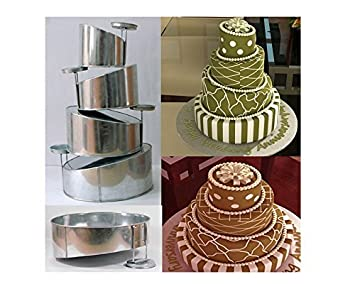 Amazon.com: Euro Tins multi layer cake pans Topsy Turvy Round 4 tier ...