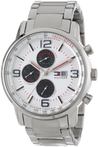 Eye Dial Watch (Tommy Hilfiger Men's 1710338 Casual Sport Multi-Eye and White Dial Watch)