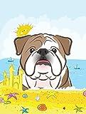 Caroline's Treasures BB2087GF English Bulldog Summer Beach Garden Flag, Small, Multicolor For Sale