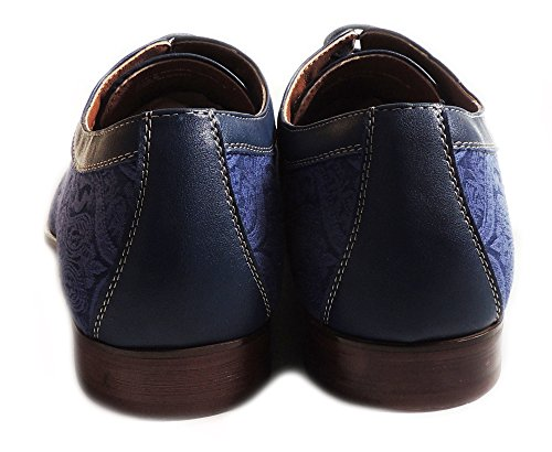 OXFORDS TOE BLUE ALDO FLORAL EMBROIDERY UP SHOES MENS DRESS ROYAL ROUND CLASSIC NEW LACE FERRO CASUAL nYSZxv5B