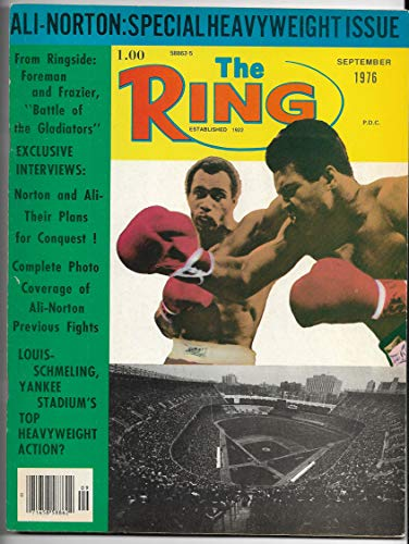 - September 1976 Issue The Ring Magazine Muhammad Ali-Ken Norton On The Cover