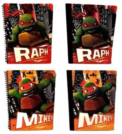 [4 Piece Kids Back to School Teenage Mutant Ninja Turtle Boys Nickelodeon Leonardo Raphael Donatello Elementary Junior High Backpack Middle Composition Notebook] (Nickelodeon Themed Costumes)