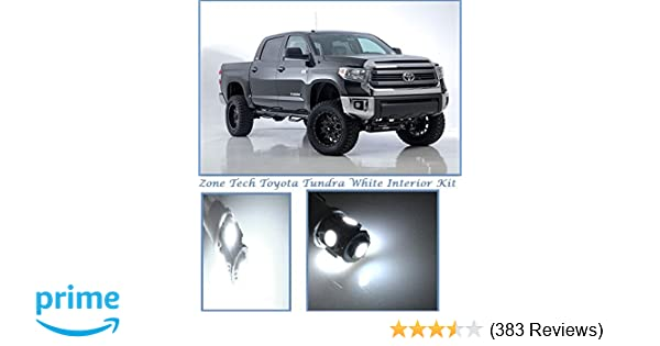 Amazon.com: Classy Autos Toyota Tundra White Interior LED Package (10 Pieces): Automotive