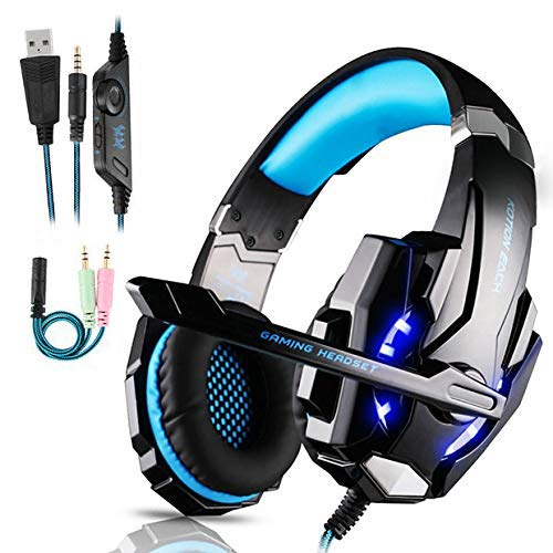 Auriculares Gaming PS4,Cascos Gaming de Mac Estéreo con Micrófono Cascos Gaming 3.5mm Jack con ...