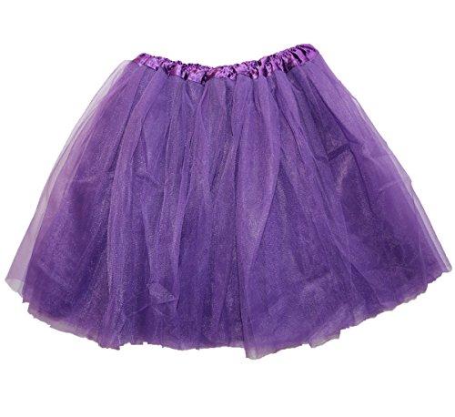 [Lovelyprincess Purple Fluffy 4 Layers Adult Dance Tutu Skirts For Women Plus Size,Purple,X-Large] (Plus Size Tutu Skirt)