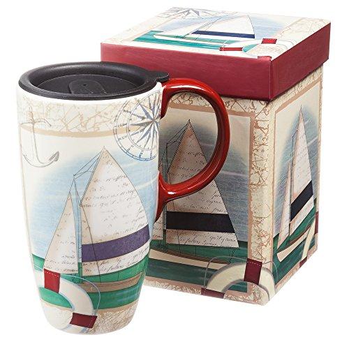 Sailboat Collage Travel Mug - 17 oz.