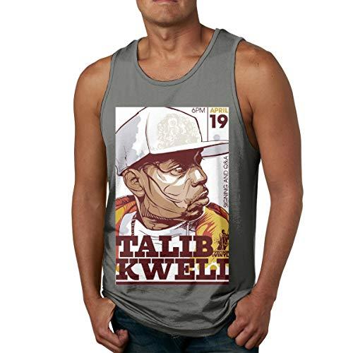 6amLifestyle Men's Gym Sleeveless Tank Top Talib Kweli Comic Shirts Deep Heather