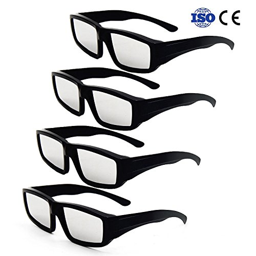 Price comparison product image Solar Eclipse Glasses,  Morntek Plastic Safe Solar Shades Filter for Solar Eclipse Viewing August 21,  2017 - CE and ISO Certified (4 Pack - Black)