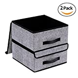 Onlyeasy Foldable Storage Bins Cubes Boxes with Lid Review and Comparison