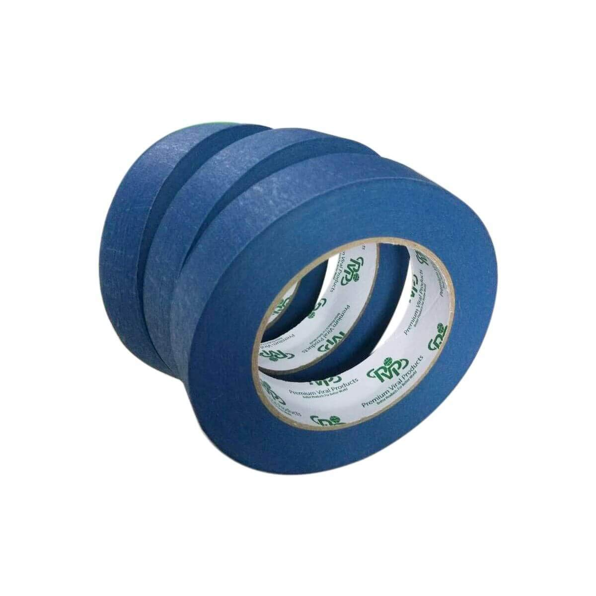 """PVP Professional Grade 1/""""x60 Yard Pack of 3 Multi USE Blue Painters Tape//Masking Tape-Premium Quality Tape Total 180 Yard 14 Day Clean /& Easy Release UV Resistance Environmentally Friendly Multi USE Premium Viral Products"""