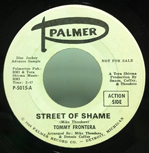 Tommy Frontera Street Of Shame / Merry Go Round 45 rpm single