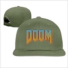 a2439fa1408 Amazon.com  Unisex Doom Logo Baseball Cap (6700056096647)  Books