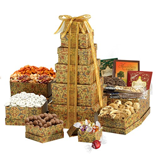 Broadway Basketeers The Ultimate Sympathy Gourmet Gift Tower (Ultimate Tray Gift)