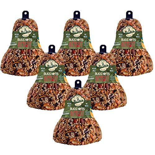6-Pack Mr. Bird Bugs, Nuts, & Fruit Wild Bird Seed Bell 12.5 ()
