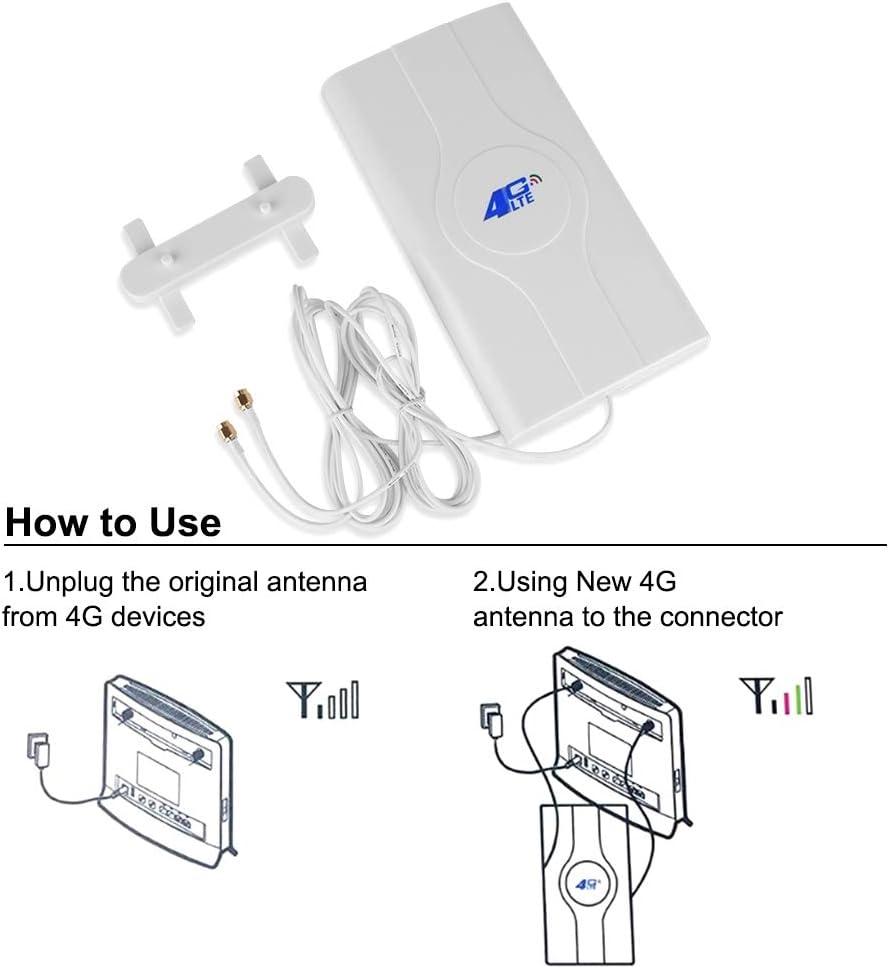 NETVIP 4G Antena 49dBi 4G LTE Antena CRC9 Mimo Dual WiFi ...