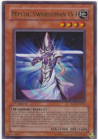 Yu-Gi-Oh! - Mystic Swordsman LV4 (SOD-EN012) - Soul of the Duelist - 1st Edition - Ultra Rare ()