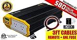 KRIËGER KR1500 1500 Watt 12V Dual Power Inverter with Installation kit. MET approved to UL and CSA standards.