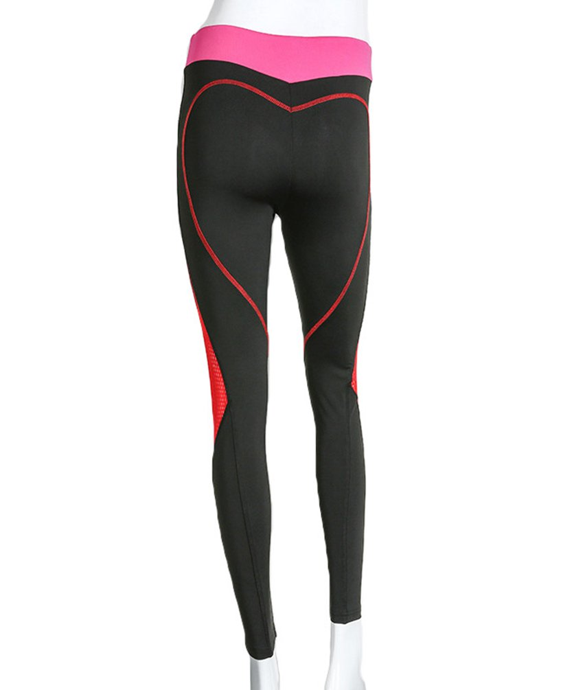 YAANCUN Donna Elastico Stretch Leggings Pantaloni Per Le Jogging Di Pantaloni Ciclismo