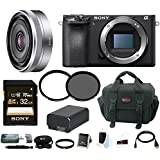 Sony a6500 Mirrorless Camera w/ 16mm Lens + 32GB Deluxe Accessory Bundle