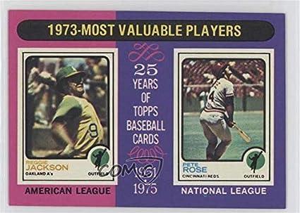 Amazoncom Reggie Jackson Pete Rose Baseball Card 1975 Topps