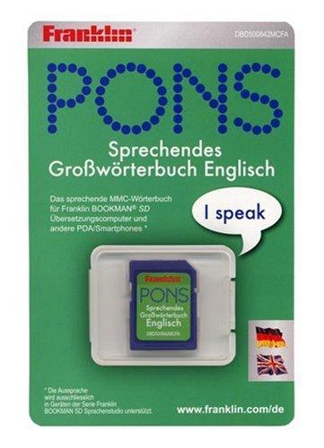 Franklin DBD-500842 Pons Großwörterbuch Deutsch/Englisch elektronisches Wörterbuch