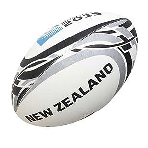Gilbert – Rugbyball Neuseeland WM2015, Größe: 5, Farbe: Weiß