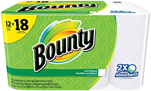 Kitchen Paper (Bounty Paper Towels, White, Giant Rolls-12)