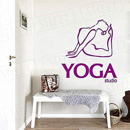 xingbuxin Tatuajes de Pared Meditación Yoga Studio Vinilo ...