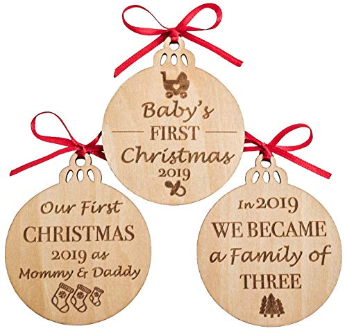 Baby's First Christmas Ornaments Set of 3 (New Ornament Mom)