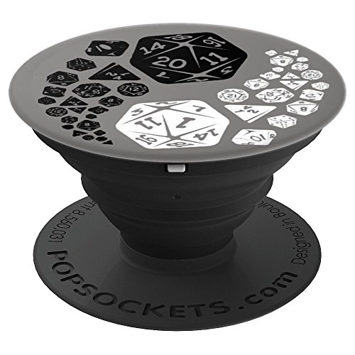 Ying Yang D20 This Is How I Roll RPG Dragons Game - PopSockets Grip and Stand for Phones and Tablets (Best Cell Phone Rpg)