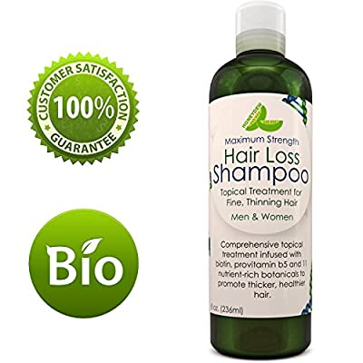 Anti-Hair Loss Shampoo Hair Loss Fighting Formula Natural Treatment Regrow Hair Anti-Dandruff Anti-Breakage Active Ingredients Rosemary Biotin Zinc Evening Primrose For Women and Men