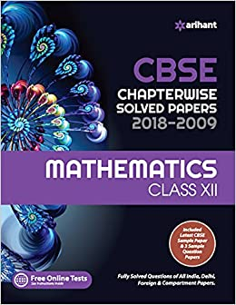 CBSE Chapterwise Solved Paper Mathematics Class 12th Old