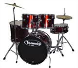 Mapex Tornado 5-Piece Drum Kit with Hardware and Cymbals, Wine Red
