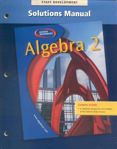 Algebra 2 Solutions Manual