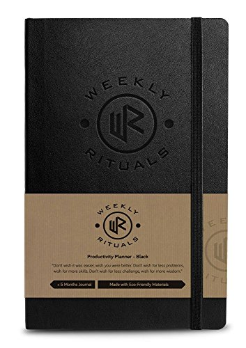 Weekly Rituals Planner PREMIUM - Best Productivity Planner on the Market!! Hack your Life and Hit Your Goals!! - Hardcover, Personal Calendar, Daily Calendar, Non Dated, Eco Friendly Material Journal
