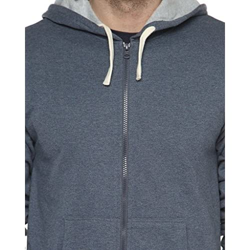 51 yGLpPLbL. SS500  - Campus Sutra Men's Cotton Denim Zipper Hoodie
