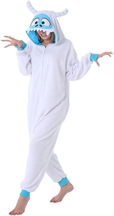 dressfan Unisexo Pijamas Monstruo de Las Nieves Pijamas Animales Traje de Dormir Cosplay Disfraz Homewear