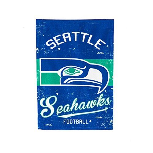 "Seattle House Seahawks - Team Sports America Seattle Seahawks NFL Vintage Linen House Flag - 28""W x 44""H"