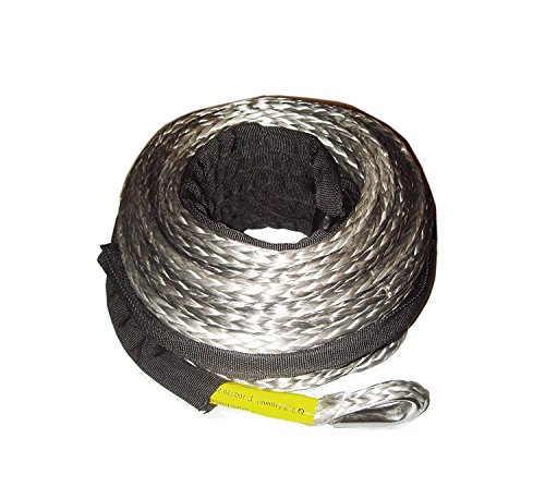 for 10500lb Winch or Less 3//8 Customized Length high Strength Synthetic Winch Rope min.18600lb