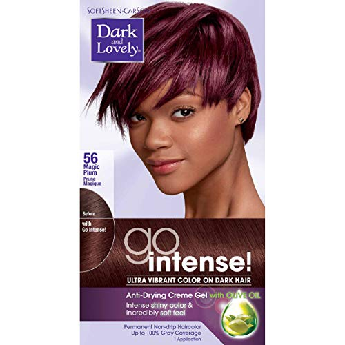 Dark and Lovely Go Intense! Intense Conditioning Creme Gel with Olive Oil, Passion Plum (Packaging May Vary)