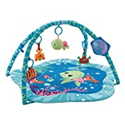 EMILYSTORES Princess Prince Baby Activity Play Gym Mats Ocean Park 30 x30