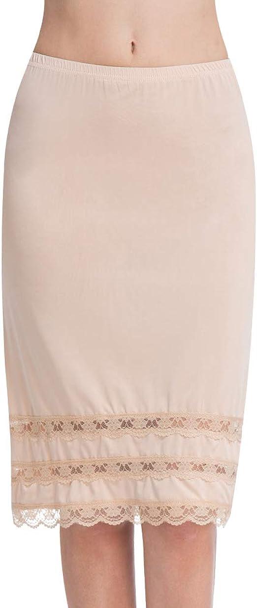 Ladies Nude Colour knee//mid length Petticoat Size 20