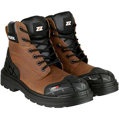 Pezzol Mens Amazon Leather S3 Work Safety Boot Brown Brown